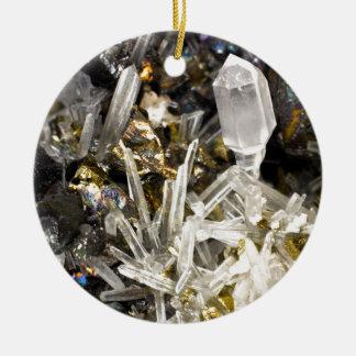 New Age Spiritual Crystal Rock Gemology Round Ceramic Decoration