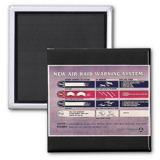 New Air Raid Warning System Fridge Magnets