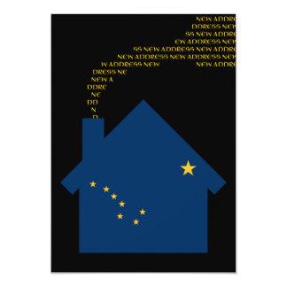 new alaskan address 13 cm x 18 cm invitation card