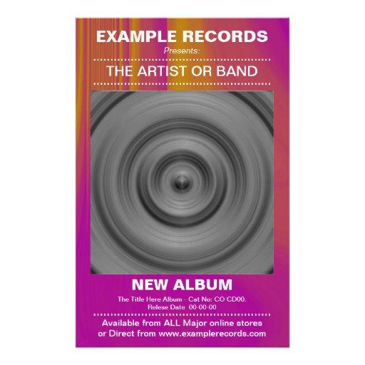 New Album Launch - Color Textured Flyer