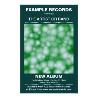 New Album Launch - Dark Green Flyer