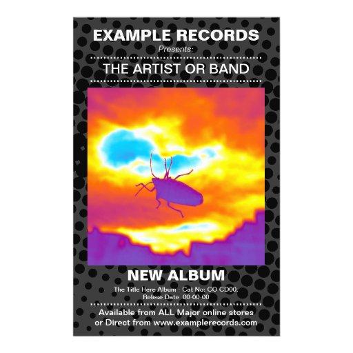 New Album Launch - HT dot Textured Flyer Design