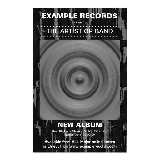 New Album Launch - Paint Textured Custom Flyer