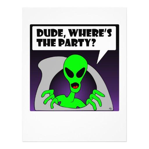 new alien party flyers