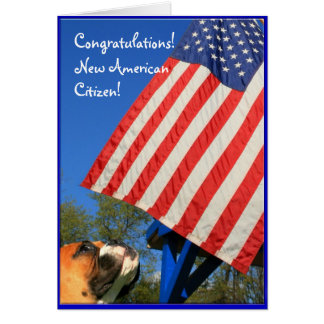 New American Citizen boxer greeting card