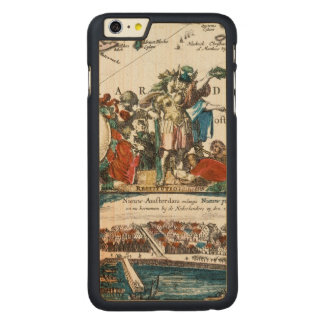 NEW AMSTERDAM, 1673 CARVED MAPLE iPhone 6 PLUS CASE