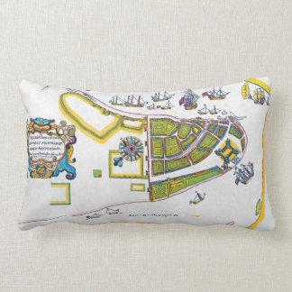 New Amsterdam Map, 1661 Lumbar Cushion