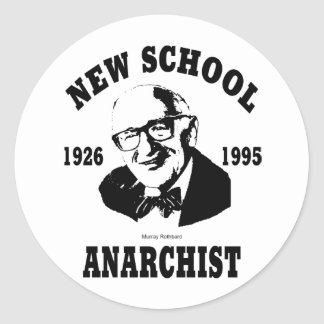 New Anarchist  --  Murray Rothbard Round Sticker