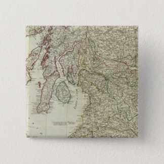 New and correct map of Scotland 15 Cm Square Badge
