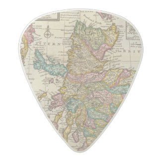 New and correct map of Scotland and the Isles Acetal Guitar Pick
