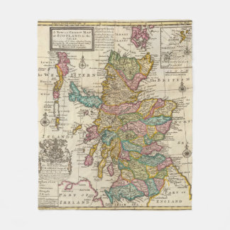 New and correct map of Scotland and the Isles Fleece Blanket