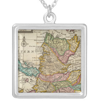 New and correct map of Scotland and the Isles Silver Plated Necklace