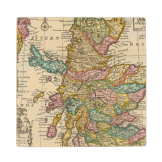 New and correct map of Scotland and the Isles Wood Coaster