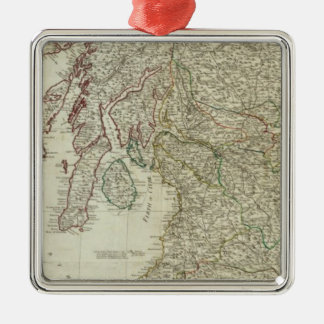 New and correct map of Scotland Christmas Ornament