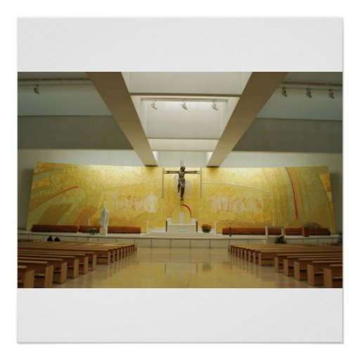 New and modern cathedral of Fatima Print