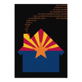 new arizona address 13 cm x 18 cm invitation card
