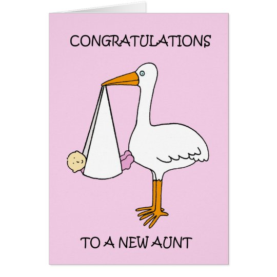 New Aunt Congratulations (baby girl). Card