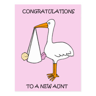 New Aunt Congratulations (baby girl). Postcard