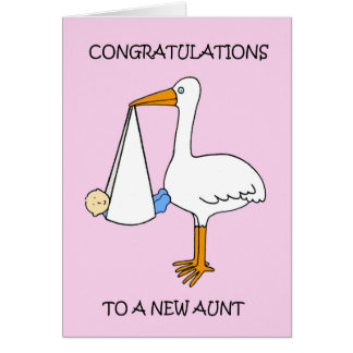 New Aunt  to baby boy, congratulations. Card