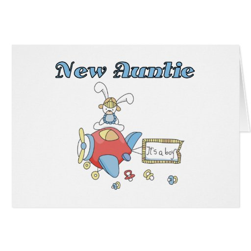 New Auntie of Baby Boy Cards