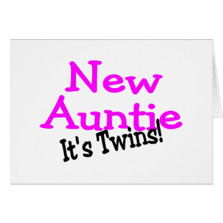 New Auntie Of Twins Cards