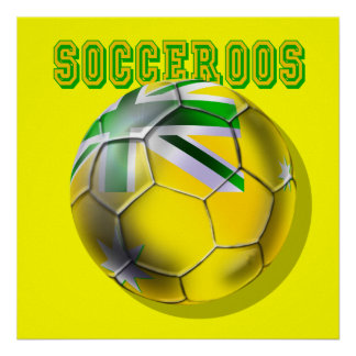 New Australian Socceroos soccer ball fans gifts Poster