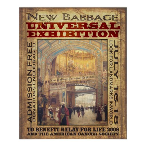 New Babbage Universal Exhibition Poster