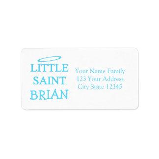 New Baby - a little saint! Label