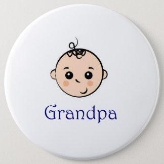 New Baby and Grandpa 6 Cm Round Badge