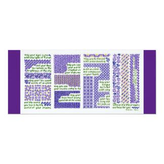 New baby, bar or bat mitzvah, or graduation card 10 cm x 24 cm invitation card