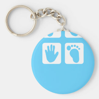 New Baby Basic Round Button Key Ring
