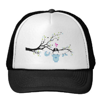 new baby boy, baby shower design trucker hat