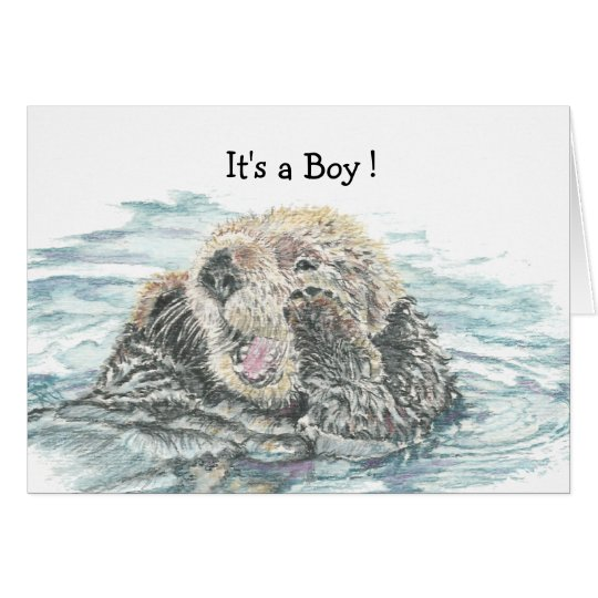 New Baby Boy Congrats Humour Cute Excited Otter