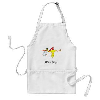 New baby boy Peeing on the stork! Standard Apron
