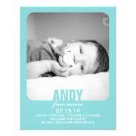 New Baby Boy Photo Flat Announcement