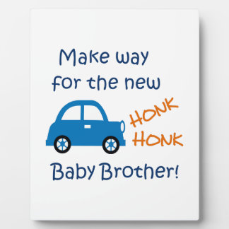 NEW BABY BROTHER PHOTO PLAQUES
