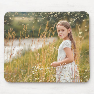 New Baby Child Photo Golden Confetti Stars Mouse Pad