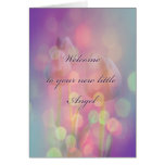 New Baby Congratulations - Bokeh Tulips Greeting Card