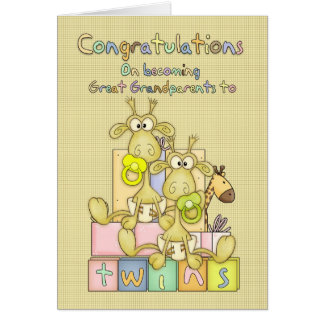 New Baby Congratulations For Great Grandparents - Card