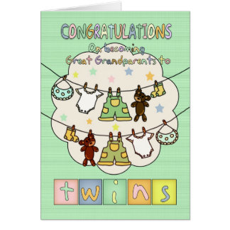 New Baby Congratulations For Great Grandparents - Cards