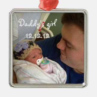 New Baby Daddy's Girl Christmas Ornament