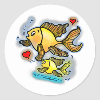 New Baby Fish Classic Round Sticker
