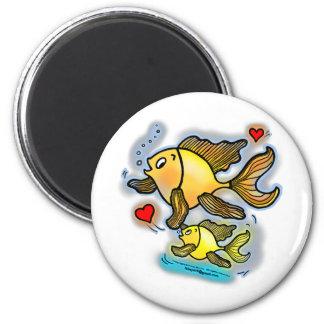New Baby Fish 6 Cm Round Magnet