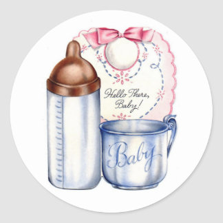 New Baby gift stickers for baskets or scrapbooks