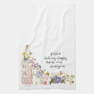 new baby gift tea towel