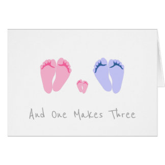 New Baby Girl - And One Makes Three Card