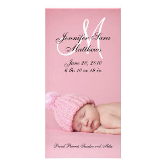 New Baby Girl Birth Announcement Photo Cards