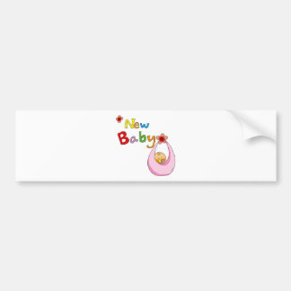 new baby girl bumper sticker