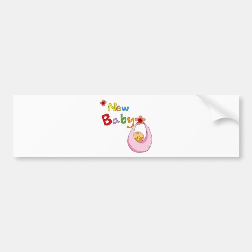 new baby girl bumper stickers