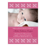 New Baby Girl Photo Flat Card Announcement